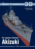 The Japanese destroyer Akizuki