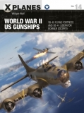 World War II US Gunships, YB-40 Flying Fortress and XB-41 Liberator Bomber Escorts