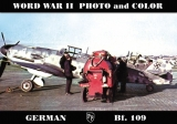 German  Bf-109 WW II Photo and Color