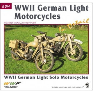 German WWII Solo Motorcycles in detail